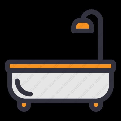 Download Bathroom,bathtub,hot Tub Icon Inventicons