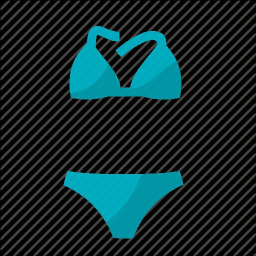 Beach, Bikini, Summer, Sun, Sun Bath, Swim, Swimming Suit Icon
