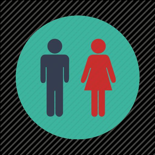 Bathroom, Female, Gender, Male, Toilet Icon