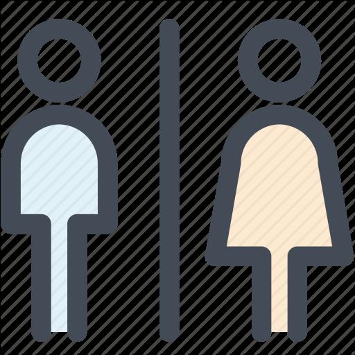Bathroom, Navigation, Public Toilet, Restroom, Sign, Toilet Icon