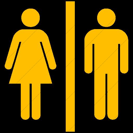 Simple Yellow Ocha Humanitarians Wash Toilet Icon