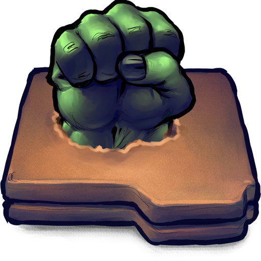 Comics Hulk Fist Folder Icon Ultrabuuf Iconset Mattahan