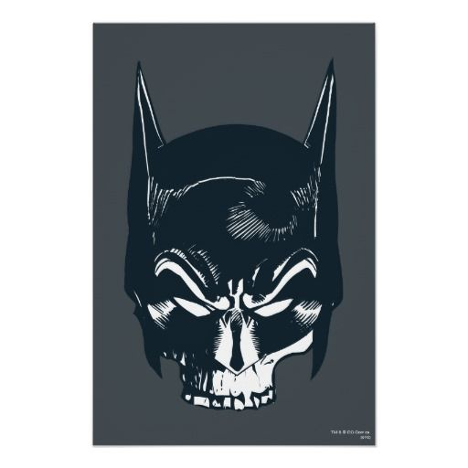 Batman Cowlskull Icon Poster Prints For The Apartment Batman