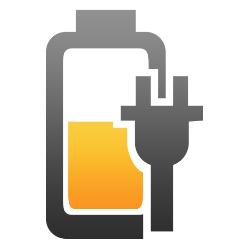 Half, Battery, Plugged, Charging Icon