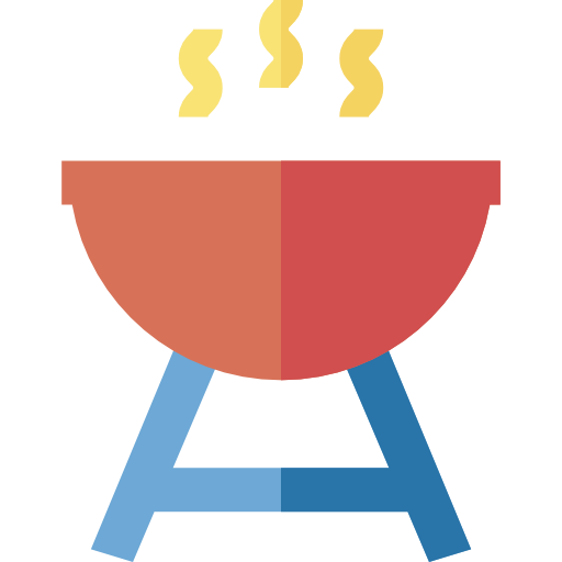 Cooking Equipment, Barbecue, Bbq, Grill, Summertime Icon