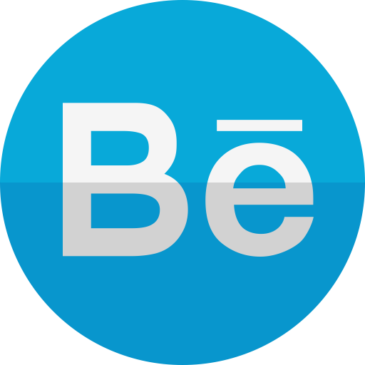 Behance Blue Circle Icon