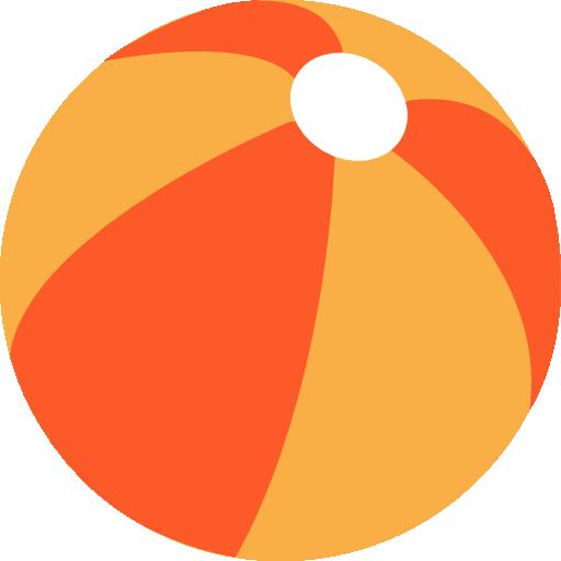 Beach Ball Flat Tomato Icon