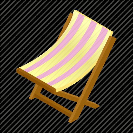Beach, Chair, Chaise, Deck, Deckchair, Isometric, Lounge Icon
