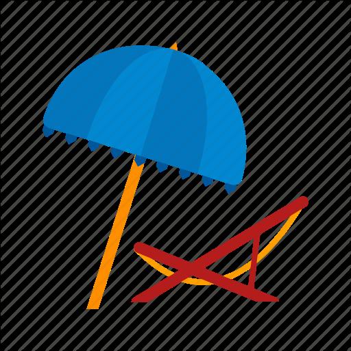 Beach, Chair, Deck, Summer, Travel, Umbrella Icon