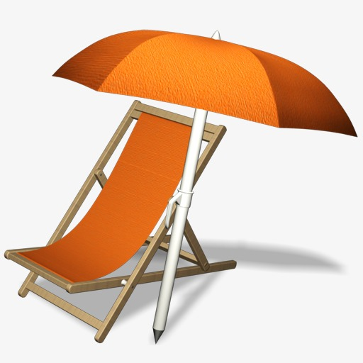Beach Chairs, Chair, Sun Umbrella Png Image And Clipart For Free