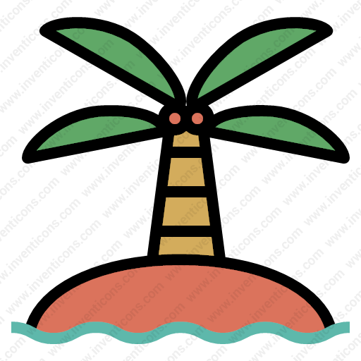 Download Island,palmtrees,sun,landscape,holiday,nature,beach Icon