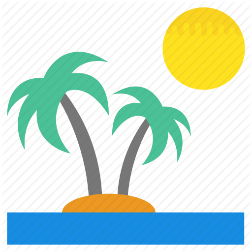 Island, Natural View, Sandy Beach, Sandy Coast, Tropical Beach Icon