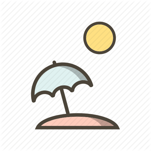 Beach, Beach Umbrella, Umbrella Icon