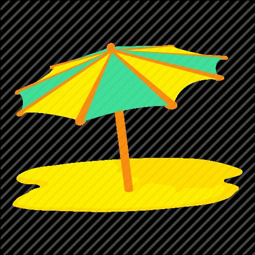 Beach, Cartoon, Summer, Sun Umbrella, Travel, Umbrella, Vacation Icon
