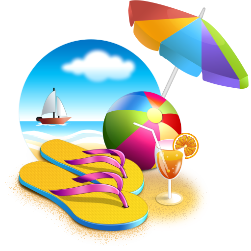 Beach, Umbrella, Sea, Cocktail, Ball, Summer Png