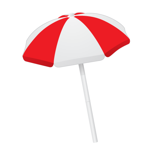 Beach Umbrella Vector Transparent Png Clipart Free Download