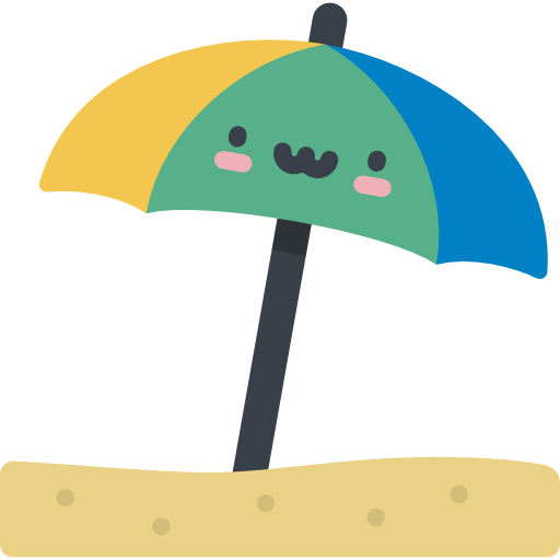 Pictures Of Beach Umbrella Icon Png