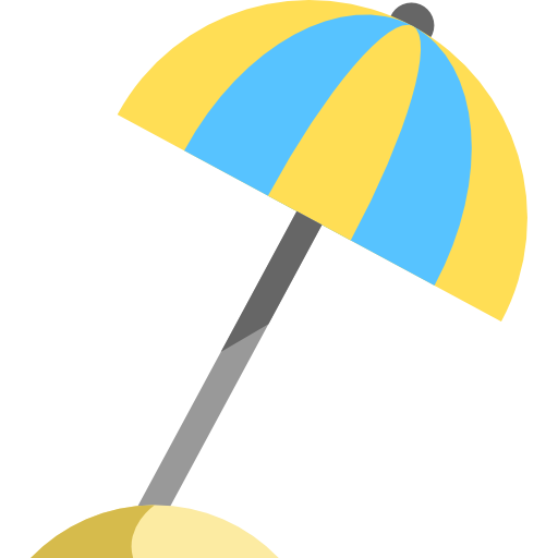 Sun Umbrella, Vacations, Holidays Icon