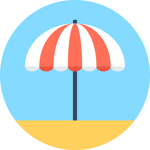 Sun Umbrella Beach Png Icon