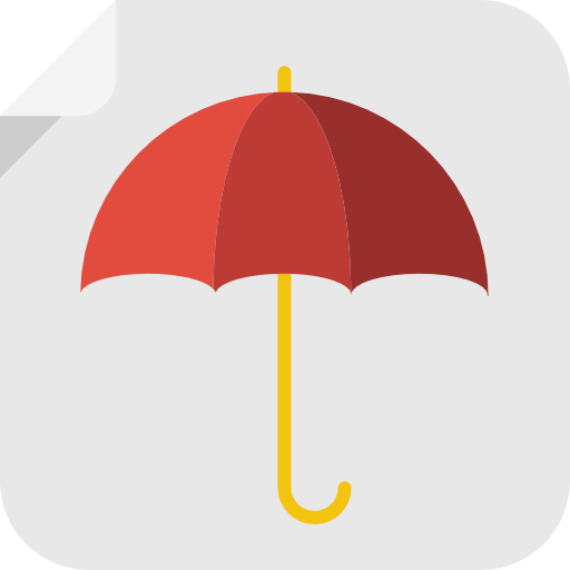 Umbrella Icon Square Iconset Flat
