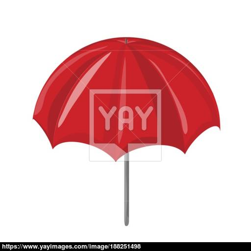 Red Sun Umbrella Vector Symbol Icon Design Vector