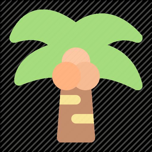 Beach, Coconut, Summer, Vacation Icon