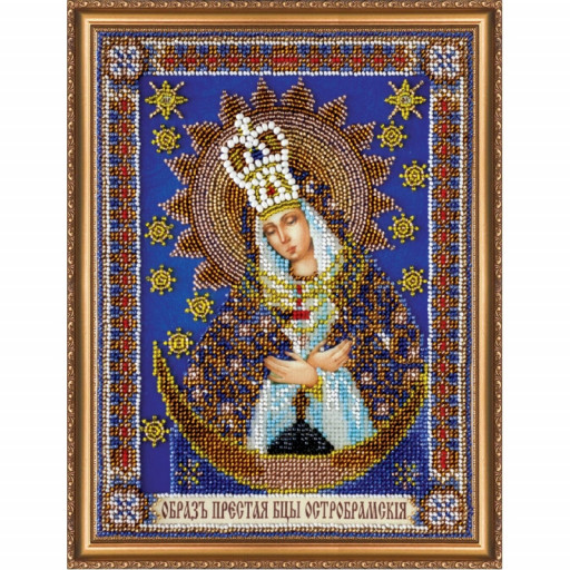 Icon Mother Of God Bead Embroidery Kit Beaded Embroidery Kit Diy