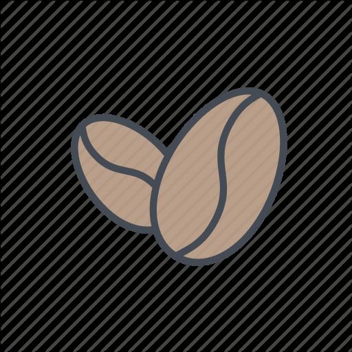 Coffee, Coffee Bean, Coffee Beans, Coffee Roast, Whole Bean Icon