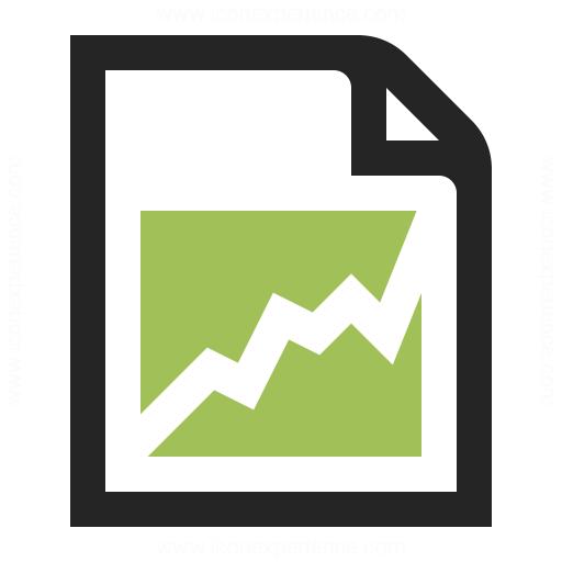 Document Chart Icon Iconexperience