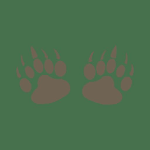 Silhouette Of Bear Footprint