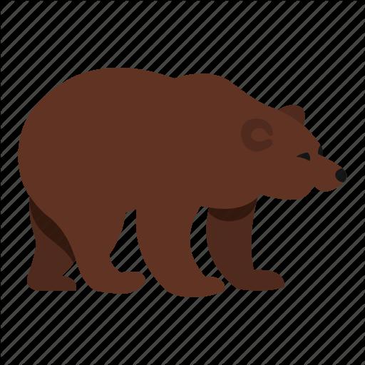 Bear, Beast, Fur, Mammal, Paw, Power, Walking Icon