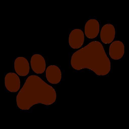 Bear Footprint Group With Items