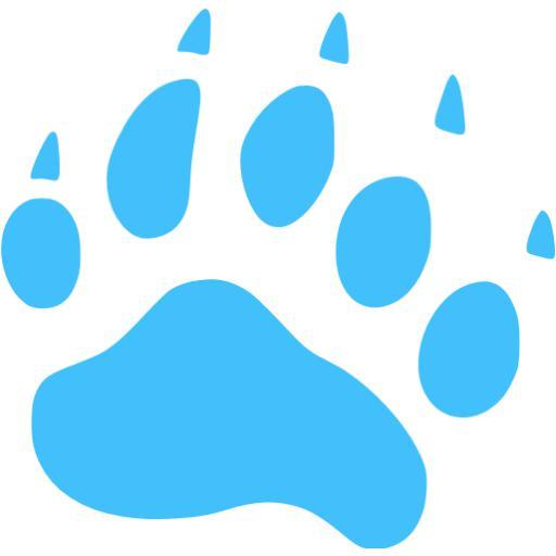 Caribbean Blue Footprints Bear Icon