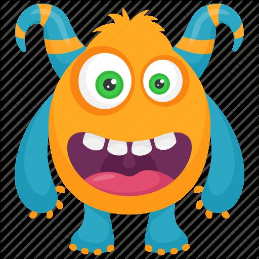 Beast, Cartoon Monster, Demon, Devil Monster, Monster Character Icon