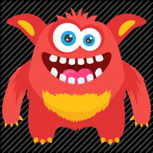 Cartoon Monster, Demon Monster, Fat Beast Monster, Giant Monster