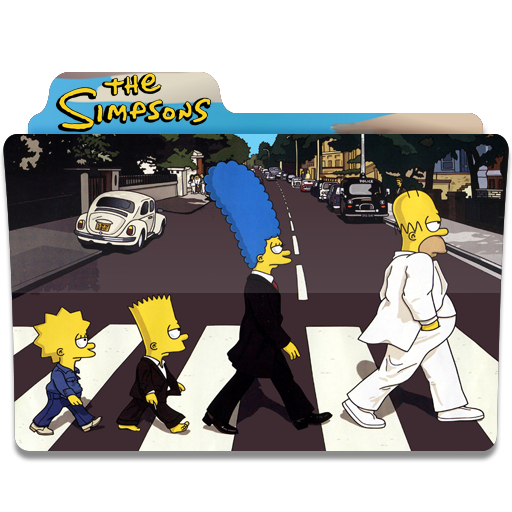 The Simpsons, Folder, Folders, Beatles Icon Free Of Simpsons Folder