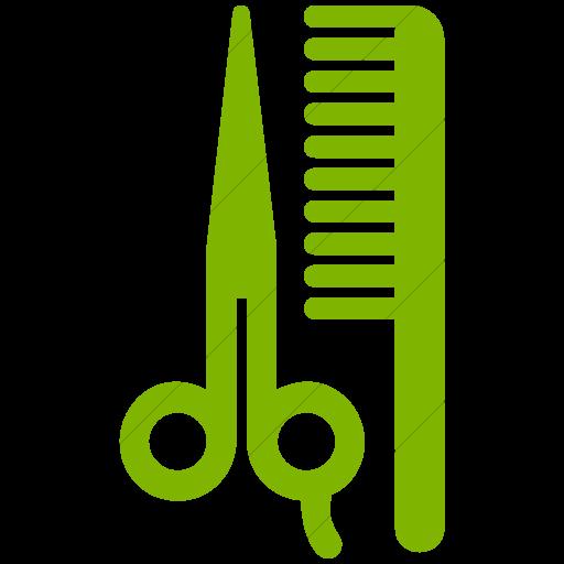 Simple Green Aiga Barber Shop Beauty Salon Icon