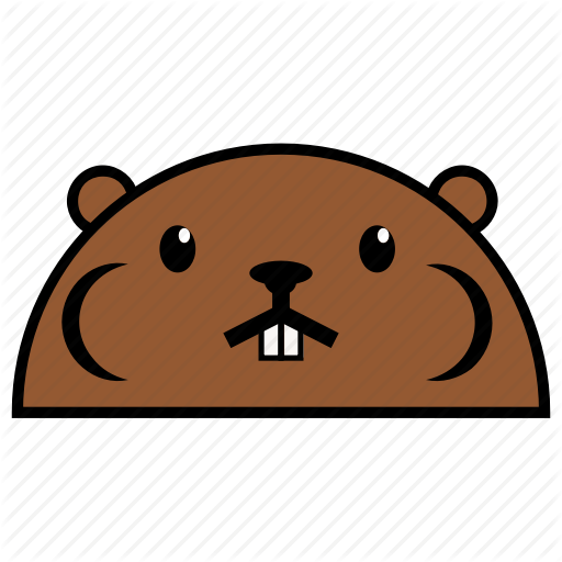 Animal, Beaver, Binatang, Ikon, Rounded, Warna Icon