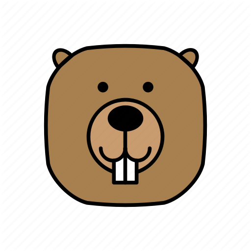 Animals, Beaver, Characters, Color, Cute, Forest, Pets Icon