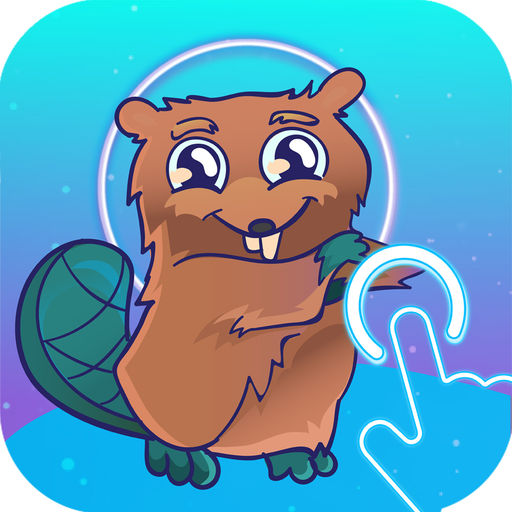 Space Beaver Fast Reaction Game With Gesture