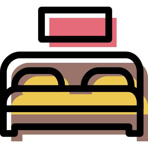 Bed, Furniture Icon Free Of Color Furniture Icons