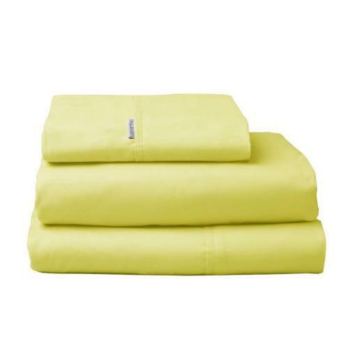 New Logan Mason Sundance Yellow King Single Bed Size Sheet Set