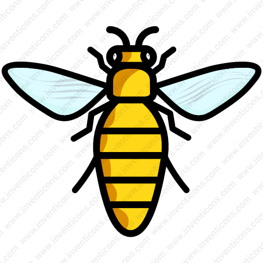 Download Insect,honey Bee,honeybee,bee,wasp Icon Inventicons