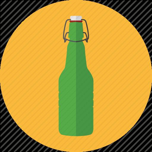 Beer Bottle, Bottle, Drink, Green Bottle, Grolsch Beer Icon