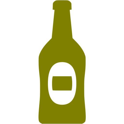 Olive Beer Bottle Icon