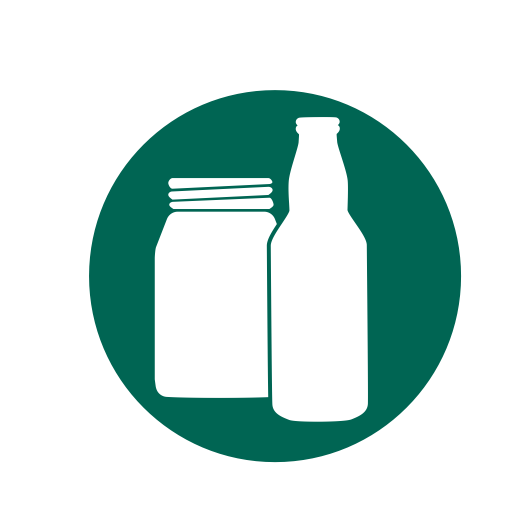 Glass, Bottles, Recycling, Jars, Beer Bottles Icon