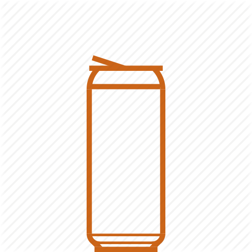 Alcohol, Booze, Drink, Skinny Beer Can Icon