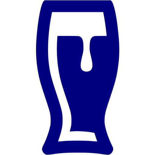 Navy Blue Beer Glass Icon