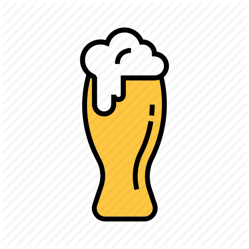 Beer Glass, Beverage, Liquor, Wheat Beer, White Beer Icon
