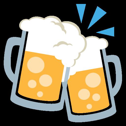 Clinking Beer Mugs Emoji Vector Icon Free Download Vector Logos